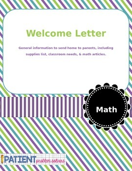 Open House/Welcome Letter