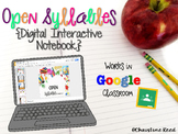 Open Syllables {Digital Interactive Notebook}