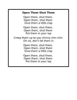 Open Them Shut Them Poem