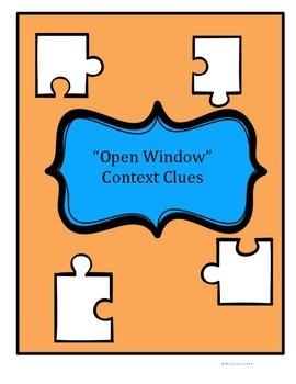 Open Window by Saki - Context Clues