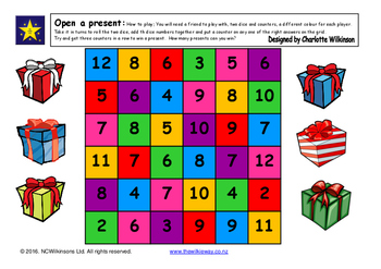 Open a Present Addition Game