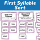 Syllable Centers: Open and Closed Sorts and Word Building