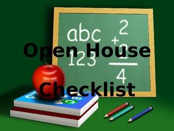Open house/meet the teacher