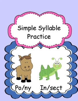 Open or Closed First Syllable in Two-Syllable Words