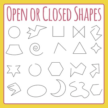 Open or Closed Shapes - Geometry Clip Art for Commercial Use