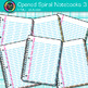 Opened Spiral Notebooks Clip Art 3 - Back to School Suppli