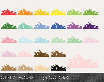 Opera House Digital Clipart, Opera House Graphics, Opera H