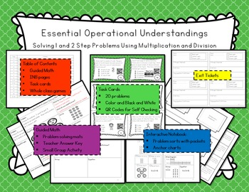 Operational Understandings: 1 and 2 step with Multiplicati
