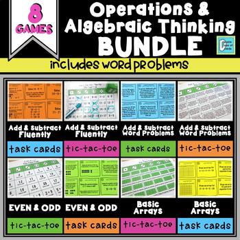 Operations & Algebraic Thinking Math Centers Bundle