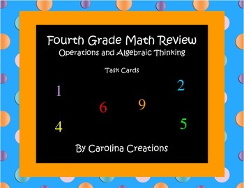 Operations Algebraic Thinking Task Cards - Fourth Grade Co