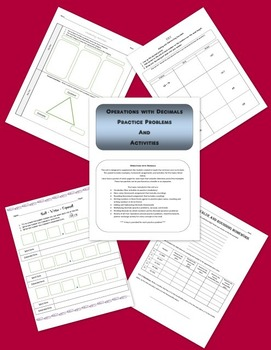 Operations With Decimals - Activities and Problems to Supp