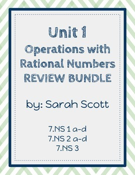 Operations With Rational Numbers Review Bundle