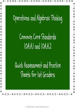 Operations and Algebraic Thinking Assessment for First Grade