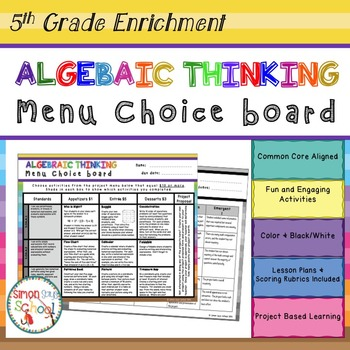 Operations and Algebraic Thinking Enrichment Projects Choi