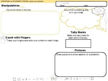 Operations and Algebraic Thinking K-3