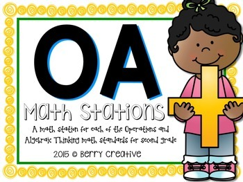 Operations and Algebraic Thinking Math Stations for Second Grade