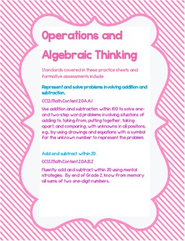 Operations and Algebraic Thinking -- Second Grade-- Common Core