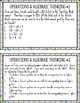 Operations and Algebraic Thinking TASK CARDS