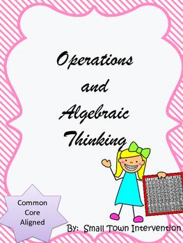 Operations and Algebraic Thinking Worksheets