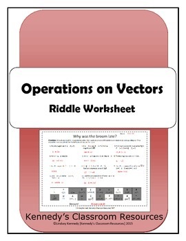 Operations on Vectors - Riddle Worksheet