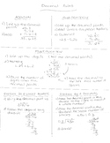 Operations with Decimals Worksheet and Study Notes