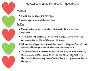 Operations with Fractions - Bump