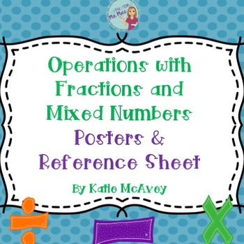 Operations with Fractions and Mixed Numbers Posters & Refe