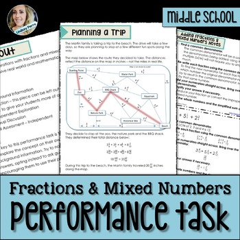 Fractions and Mixed Numbers Performance Task
