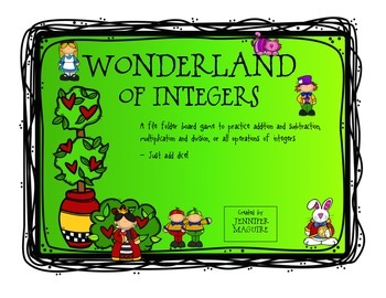 Operations with Integers - Wonderland Game