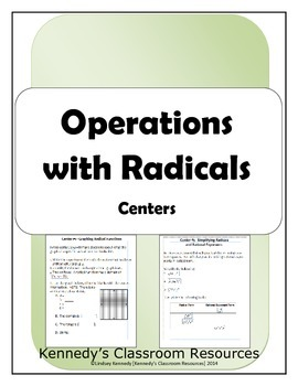 Operations with Radicals - Centers