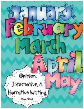 Opinion, Informative, & Narrative Pre-writing & Writing: J