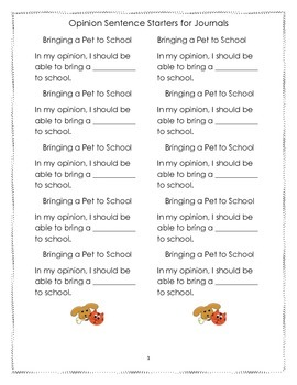 Opinion Journal Prompts