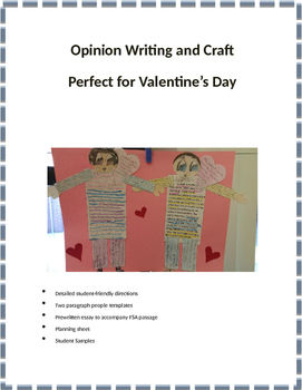 Opinion Paragraph Writing with a Fun Craft