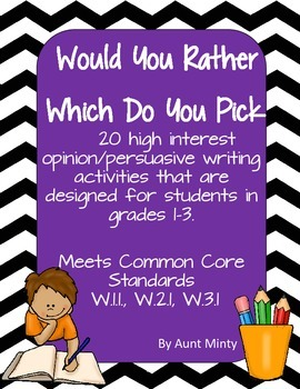 Opinion Persuasive Writing for grades K-3rd with graphic o