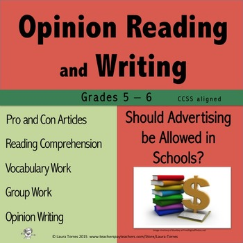 Opinion Writing and Opinion Reading - Should Advertising b