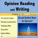 Opinion Writing and Opinion Reading - Should Bottled Water