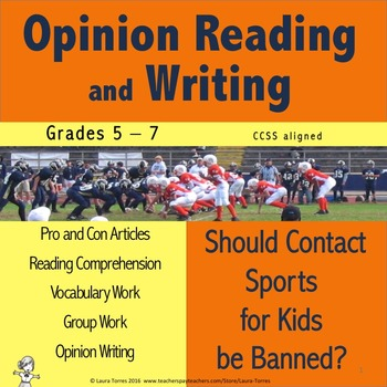 Opinion Writing and Opinion Reading - Should Contact Sport