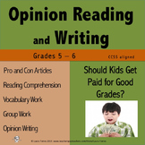 Opinion Writing and Opinion Reading - Should Kids Get Paid
