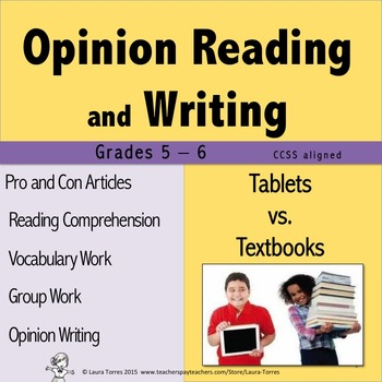 Opinion Writing and Opinion Reading - Tablets vs. Textbooks