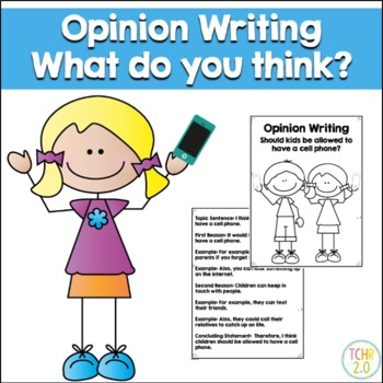 Opinion Writing Prompt Cell Phone