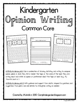 Opinion Writing - Common Core