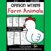 Farm Animals Opinion Writing