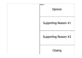 Opinion Writing Flipbook