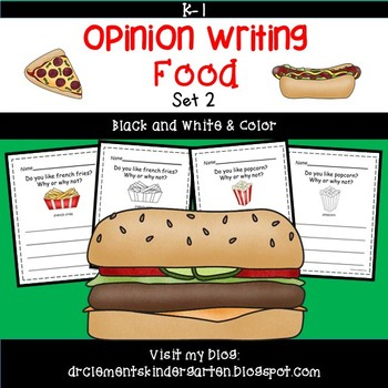 Foods Opinion Writing: (pack 2)