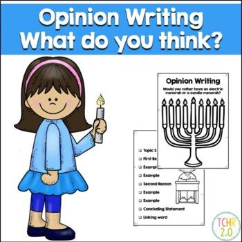 Opinion Writing Prompt Hanukkah Chanukah Menorah