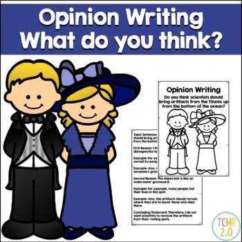 Opinion Writing Prompt Titanic Artifacts
