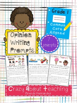 Opinion Writing Prompts-First Grade