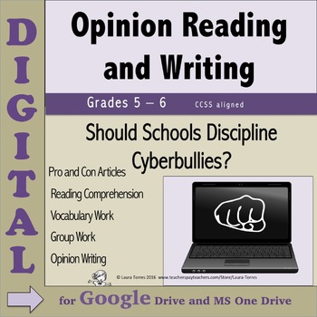 Opinion Writing & Reading DIGITAL - Should Schools Discipl