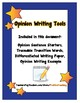 Opinion Writing Tools - Sentence Frames - Writing Paper -