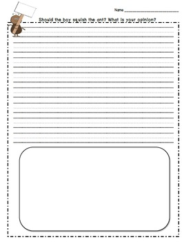 Opinion Writing:  Should the Boy Squish the Ant?